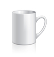 object white cup vector image