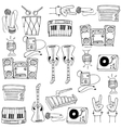 Doodle of theme music tools vector image