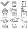 Element thanksgiving set on doodles vector image