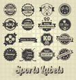 Mixed Sports Labels vector image vector image