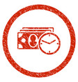 cash credit rounded grainy icon vector image