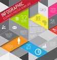 abstract triangles background infographic vector image vector image