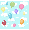 seamless pattern with colorful balloons vector image vector image