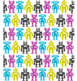 Robots Seamless background vector image vector image