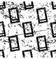 Smartphone pattern grunge monochrome vector image
