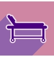 Icon of medical stretcher in flat style vector image
