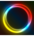 Colorful Glowing Rings eps10 abstract vector image