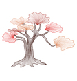 abstract bonsai tree vector image vector image