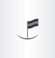 abstract black flag icon vector image