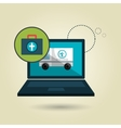 ambulance health laptop icon vector image