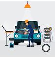 car repair vector image