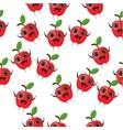 cartoon apple character vector image