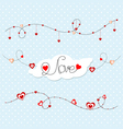 gentle blue background with hearts Valentines Day vector image