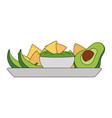 Isolated nachos design vector image