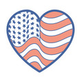 nice heart with usa flag inside vector image