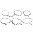 speech bubbles icon set hand drawn on white vector image