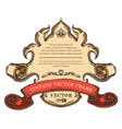 vintage border frame isolated on white background vector image