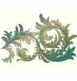 Vintage calligraphic detailed floral branch vector image
