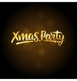 Xmas party template Christmas golden background vector image