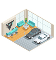 Hall Interior Isometric Design vector image vector image