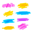 Highlighter marker strokes vector image