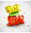 3D big autumn sale with foliage vector image vector image