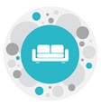 of interior symbol on couch vector image