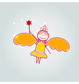 Gift card with little fairy vector image