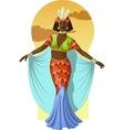 Retro character attractive afroamerican actress vector image
