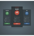 Pricing table template for hosting business vector image