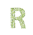 Spring green leaves eco letter R vector image vector image