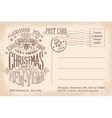 Vintage merry Christmas and New Year holiday vector image