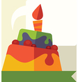 birthday icon vector image vector image