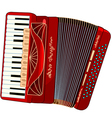 beautiful accordion vector image