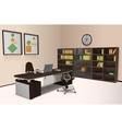 Realistic Office Interior vector image