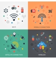 Wireless Technology 4 Flat Icons Square vector image vector image
