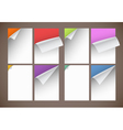 Peeling paper vector image vector image