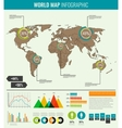 World map with infographic elements All countries vector image