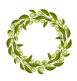A Beautiful Olive Wreath or Olive Crown vector image