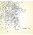 Abstract floral composition vector image