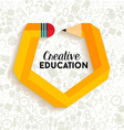 Creative education concept vector image
