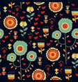 floral seamless pattern with flowers vector image