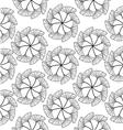 gingko leaf circle seamless pattern white vector image