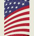 Grunge united states of america wavy flag vector image