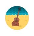 Guitar Beach flat icon vector image