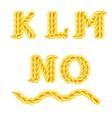 knitted alphabet K O vector image