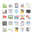 seo and digital marketing colored icons 9 vector image
