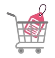 shopping cart online price tag vector image