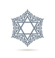 star of david jewish ornament blue icon vector image