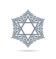 star of david jewish ornament blue icon vector image